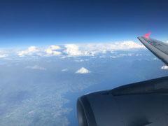 """""""unser"""" Vulkan Osorno aus der Luft"""