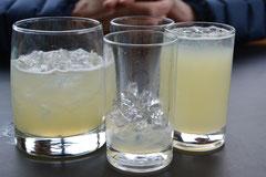Pisco Sour, natürlich mit Grey-Gletschereis