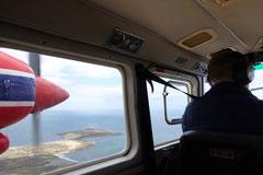 Flug nach Bleaker Island