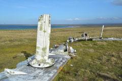 Trümmerreste vom Falklandkrieg 1982