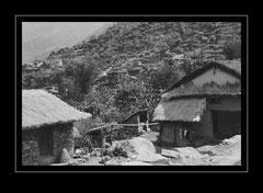 Siedlung im Dudh Kosi Tal