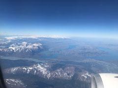 Flug nach Santiago de Chile
