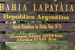Ende der Panamericana nach 25'750 km von Alaska