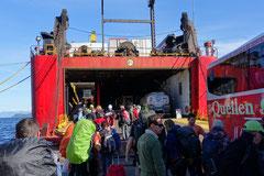 Einschiffen nach Puerto Natales