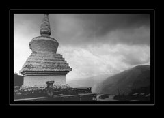 Stupa auf dem Tragsindo La Pass, 3071m
