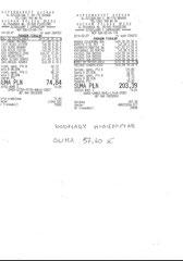 Inkontinenzunterlagen (eingekreist) 57,40 Zloty