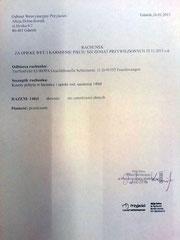 Rechnung TA Danzig 140 zl - ca. 34,15 € (Kurs 4,10)