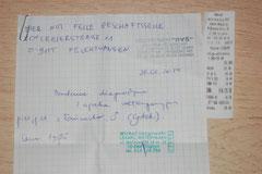 1 Rg. 26.02.2014 - TA M. Langowski - Halswunde ehem. Kettenhund ANTON von Dorota 195 Zl. - 48,75 Euro