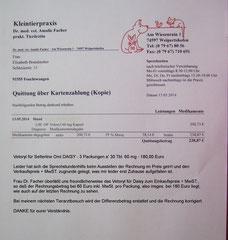 Rg. TA Dr. Facher, Vetoryl Daisy Mai 180 Euro
