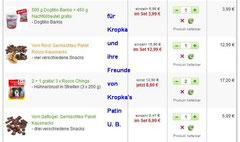 Leckerlie für Kropka - Spende der Patin über 40 Euro