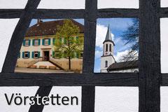 Bildnr. 347 / Fachwerk mit Rathaus und ev. Kirche