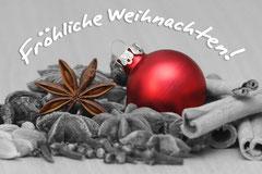 Bildnr. 288 / Weihnachtskugel und Gewürze