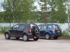 Zwei Berner Autos auf Reisen