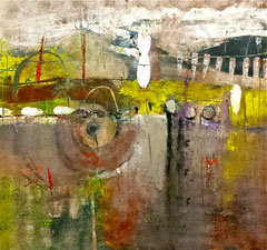 """Natura viva"", 2014  Tecnica mista, 99 x 93 cm"