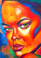 Rihanna, 100 x 140 cm, Acryl auf Leinwand