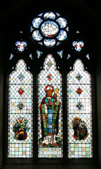 The south transept window - St Augustine by O Caine 1954 - image from the church website