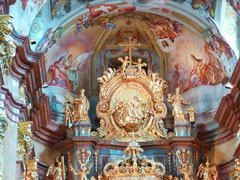 Eglise de l'abbaye de Melk (détail)