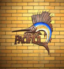 Pacifico Sailfish Metal Sign