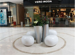 Mall Deco with Vases