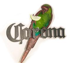 Corona Parrot Metal Sign