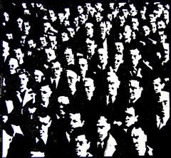 Crowd P04 | 2013 | 30x30cm | Linolschnitt
