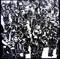 Crowd P06 | 2013 | 30x30cm | Linolschnitt