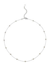 GBNSRI-184: White Baby Akoya pearl necklace (3-3.5mm) finished in 14k white gold.  Adjustable between 15.5-18 inches, $360