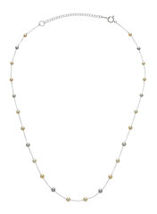 GBNSRI-151: Rare multicolor Baby Akoya pearls (3-4mm) finished in 14k white gold. Adjustable betwen 16-17.5 inches, $270