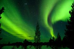 © Raquettes en Laponie lac Inari