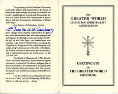 My Greater World Membership Card