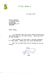 A letter I received from L Ron Hubbard in June of 1976, when I was an Active Member of The Church of Scientology