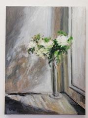 White Flowers, Öl_Lwd. 60x80cm