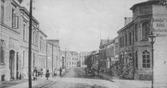 März: Die Bahnhofstraße zu Beginn des 20. Jahrhunderts
