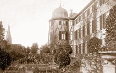 Titelbild: Südterrasse des Schlosses zu Beginn des 20. Jahrhunderts