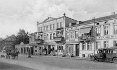 Juni: Das Eutiner Bahnhofshotel Hotel Wittler im Jahr 1934