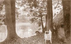 Januar: Im Schlossgarten vor 1918