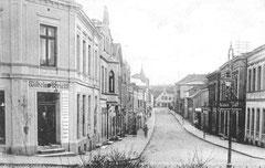 Januar: Blick in die Peterstraße um 1916