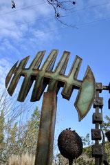 """"""" Kaméleon"""" => Art en Cenne à Cenne-Monestiés la sculpture """"Kaméleon"""" (2011)"""