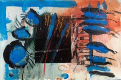 """""""Zeitreise #2"""", 2018, Mischtechnik auf Bütten, 38x57 cm"""