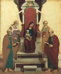 Эрмитаж. Мадонна на троне (х. акр. м., 120х100, 2000)