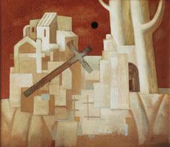 Гефсиманский сад (х. м., 70х80, 1992)
