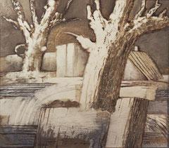 Зимний пейзаж (к. м., 50х60, 1989)