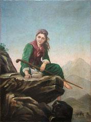 Пастушка в горах