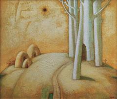 Латгальский пейзаж (к. акр. м., 57,5х56,5, 2001)