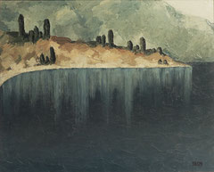 Крымский этюд (к. м., 44,5х55, 1979)