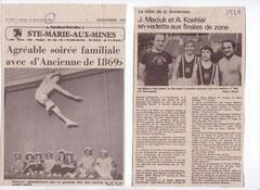 """1978 Champions de Zone Est et 1980 Trampoline au """"Concert """" annuel de décembre """""""