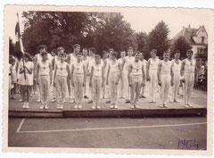 1964 Equipe masculine lors d'un Concours départemental à Colmar