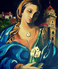 Die südsteirische Madonna / Tribute to the city of Leibnitz 60x50 Acryl on Canvas