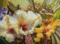 Λουλούδια,   κώδικας №87  (90χ125cm) -μη διαθέσιμο-SOLD  λαδι σε μουσαμα