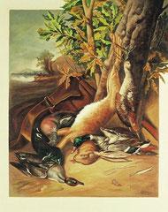 Νεκρή φύση -Μετά το κυνήγι ( αντίγραφο)    κώδικας №146  (80χ100cm) - -μη διαθέσιμο-SOLD λαδι σε μουσαμα